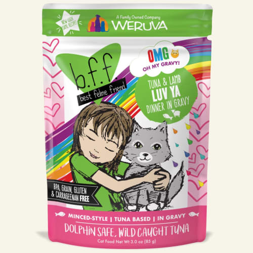 Weruva - BFF Tuna & Lamb Luv-Ya CAT-TASTIC! Recipe In Gravy Grain-Free Cat Food Pouch