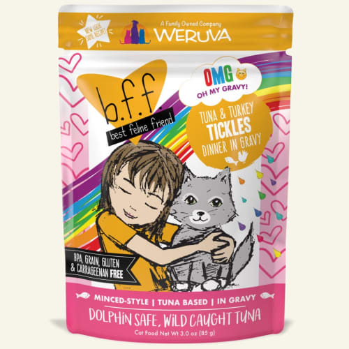 Weruva - BFF Tuna & Turkey Tickles CAT-TASTIC! Recipe In Gravy Grain-Free Cat Food Pouch