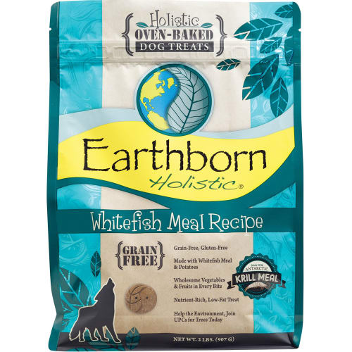 Earthborn - Whitefish Meal Recipe Grain-Free Dog Treats, 2lb