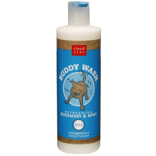 Buddy Wash Refreshing Rosemary & Mint 2 In 1 Dog Shampoo & Conditioner, 16oz