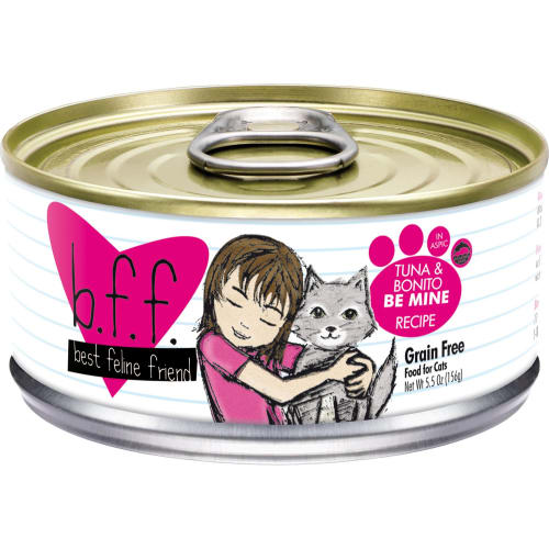 Weruva - BFF Tuna & Bonito BE MINE In Gelee Recipe Grain-Free Canned Cat Food