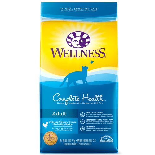 Wellness - Complete Health Deboned Chicken, Chicken Meal & Rice Recipe Dry Cat Food, 5lb