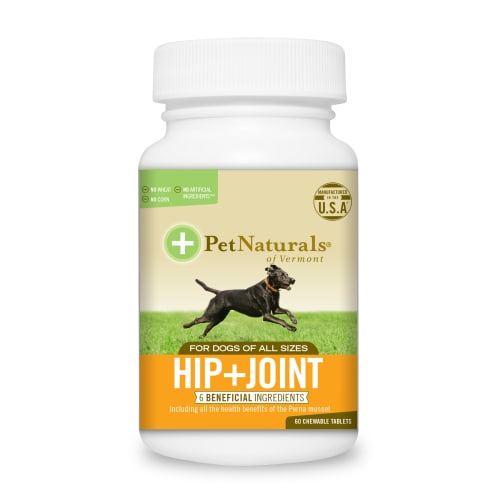 Pet Naturals - Hip & Joint Chewable Tablets With Perma Mussels For All Dog Sizes Pet Supplement, 60 Count