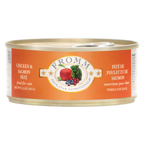 Fromm - Four Star Chicken And Salmon Pate Canned Cat Food, 5.5oz
