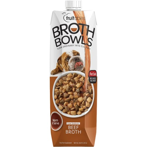 Fruitables - Beef Broth Bowls Low Sodium Dog Food Supplement, 16.9oz