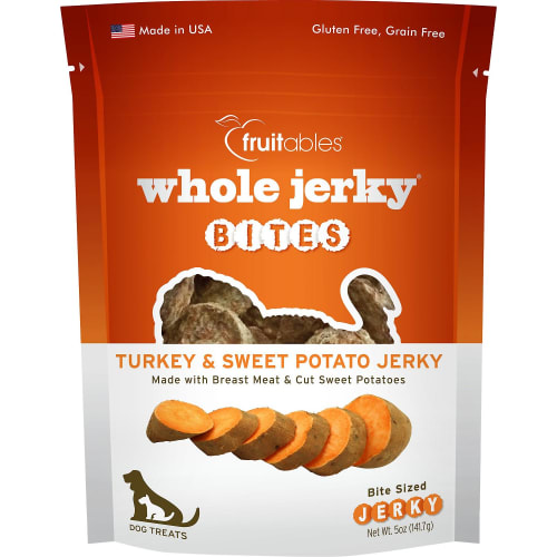 Fruitables - Whole Jerky Bites Turkey & Sweet Potato Dog Treats, 5oz