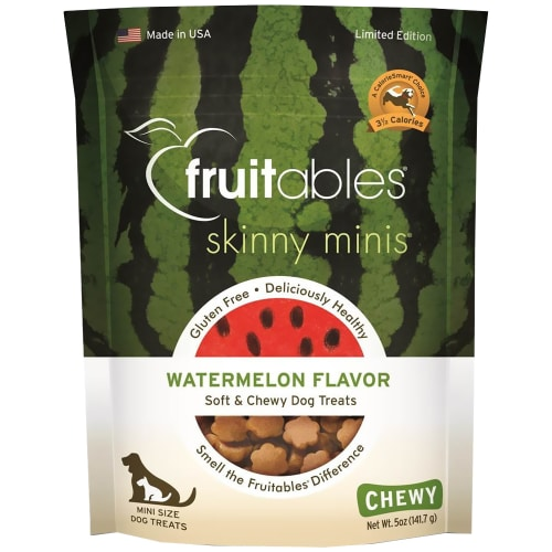 Fruitables - Skinny Minis Soft & Chewy Dog Treats Watermelon, 5oz