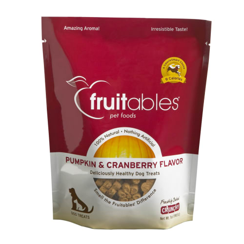 Fruitables - Pumpkin & Cranberry Natural Dog Biscuits, 7oz