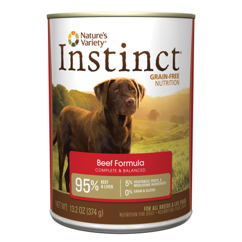 Nature's Variety - Instinct Grain-Free Beef Canned Dog Food, 13.2oz