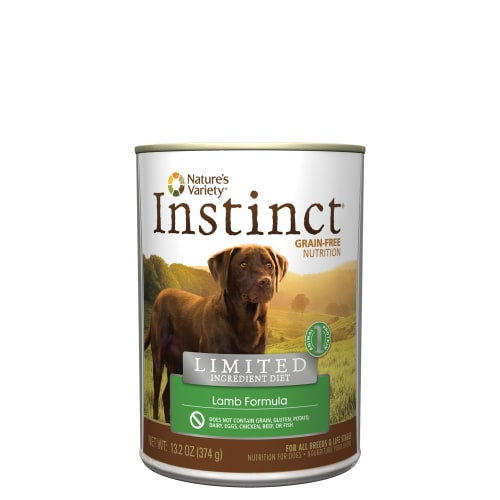 Nature's Variety - Instinct Grain-Free Lamb Formula Canned Dog Food, 13.2oz