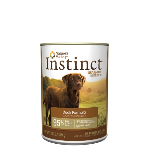 Nature's Variety - Instinct Grain-Free Duck Formula Canned Dog Food, 13.2oz