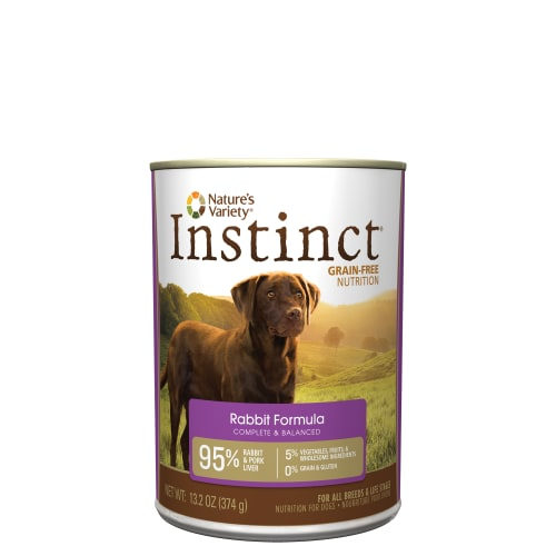Nature's Variety - Instinct Grain-Free Rabbit Canned Dog Food, 13.2oz