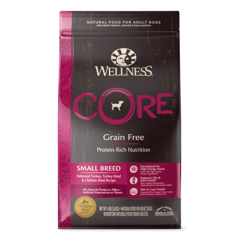 Wellness - Core Small Breed Deboned Turkey Meal & Chicken Meal Recipe Dog Food, 4lbs