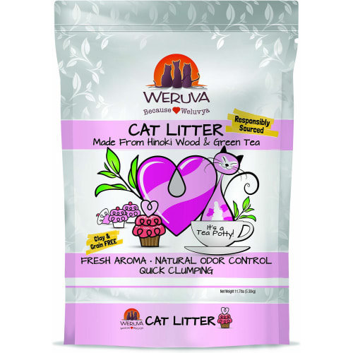 Weruva - Hinoki Wood & Green Tea Cat Litter, 11.7lbs