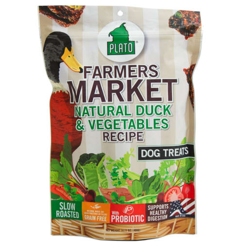 Plato - Farmers Market Duck & Vegetables Recipe Dog Treats