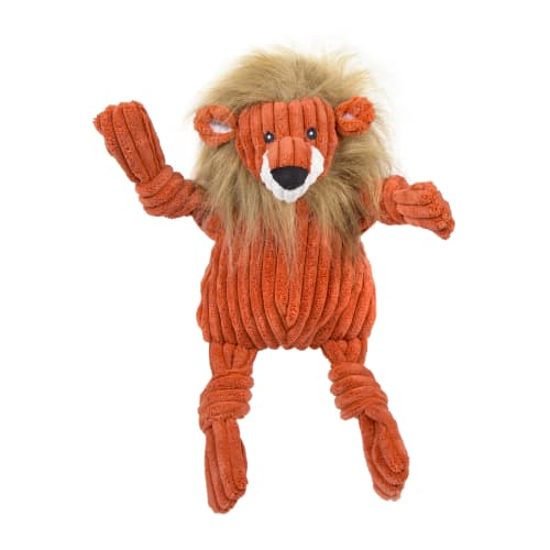 HuggleHounds - Plush Corduroy Durable Lion Knotties