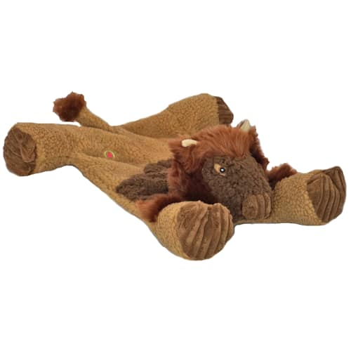 HuggleHounds - Durable Tuffut Flatties Buffalo