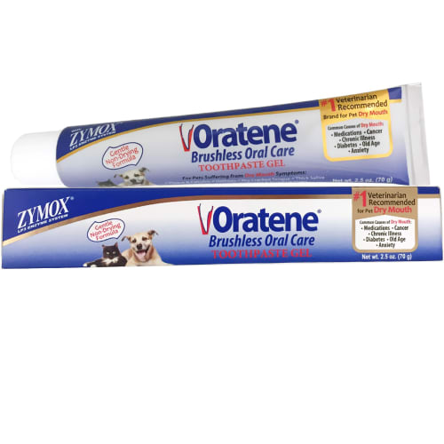 Zymox - Oratene Brushless Oral Care Toothpaste Gel For Dogs & Cats, 2.5oz