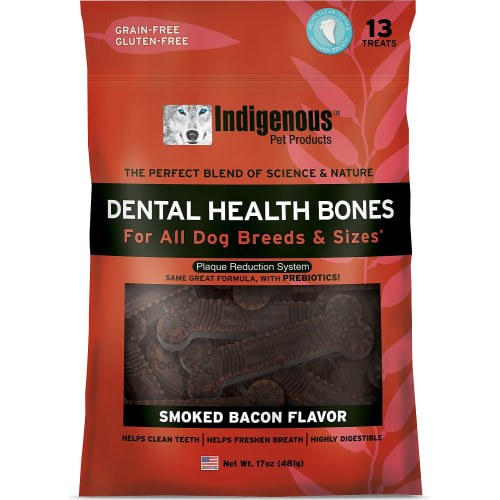 Indigenous - Dental Bone Chew Smoked Bacon Flavor, 17oz