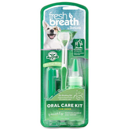 Tropiclean - Fresh Breath Oral Care Kit For Large Dogs
