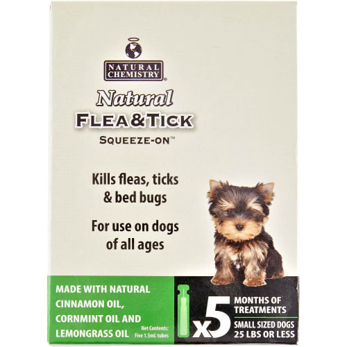 Natural Chemistry - Flea & Tick Sqeeze On SM D 5ct