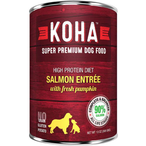 Koha - High Protein Limited Ingredient Diet Salmon Entree Canned Dog Food, 13oz