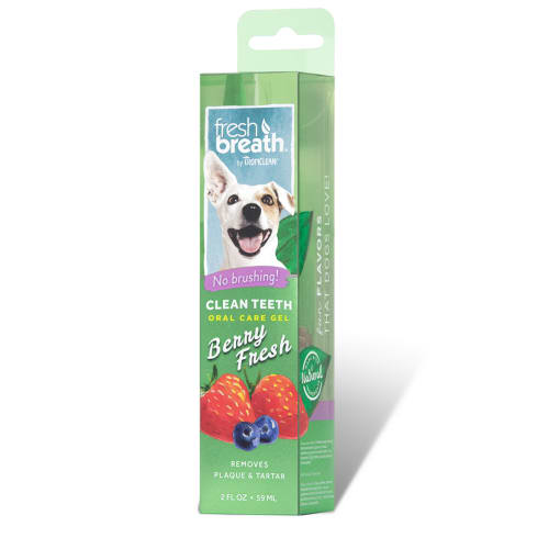 TropiClean - Clean Teeth Oral Care Gel Berry Fresh, 2oz