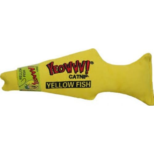 Yeowww! - Catnip Yellow Fish Cat Toy