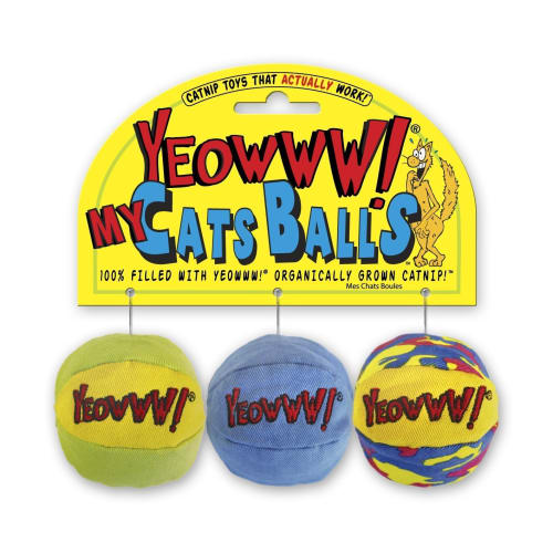 Yeowww! - Catnip My Cats Balls, 3 Pack