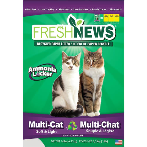 Fresh News - Cat Newspaper Pellet Multi Pet Litter, 14lbs