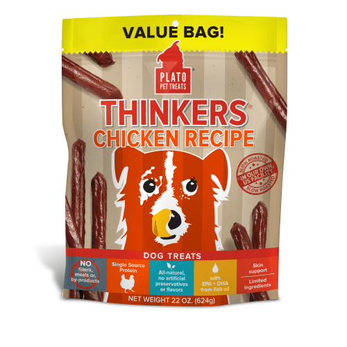 Plato - Thinkers Chicken Stick Dog Treats, 22oz