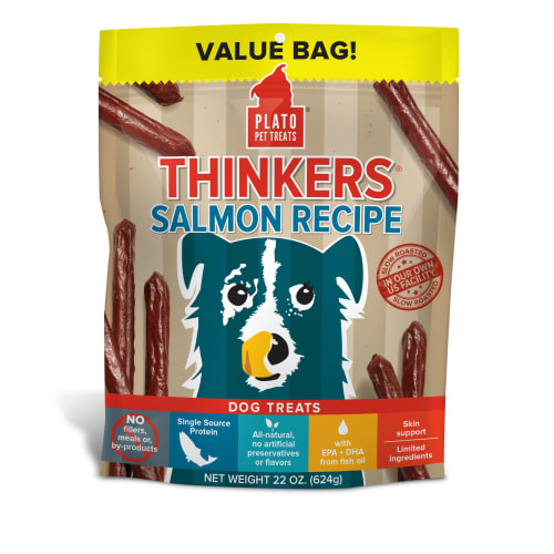 Plato - Thinkers Salmon Stick Dog Treats, 22oz