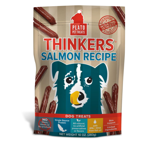 Plato - Thinkers Pacific Salmon Dog Treats, 10oz