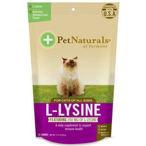Pet Naturals- L-Lysine Cat Supplement, 60ct