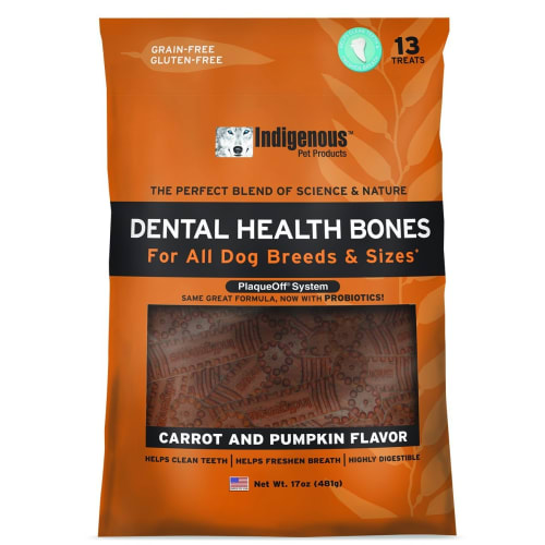 Indigenous - Dental Bone Chew Carrot & Pumpkin Flavor 17oz