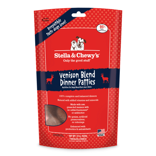 Stella & Chewy's - Venison Blend Dinner Patties Grain-Free Freeze Dried Dog Food