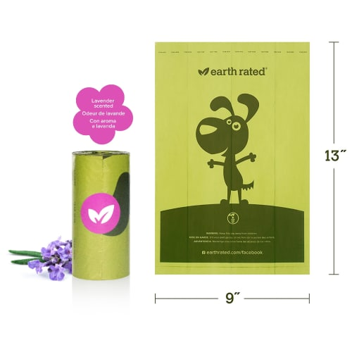 Earth Rated - Poo Bag Single Roll, Lavendar Scent