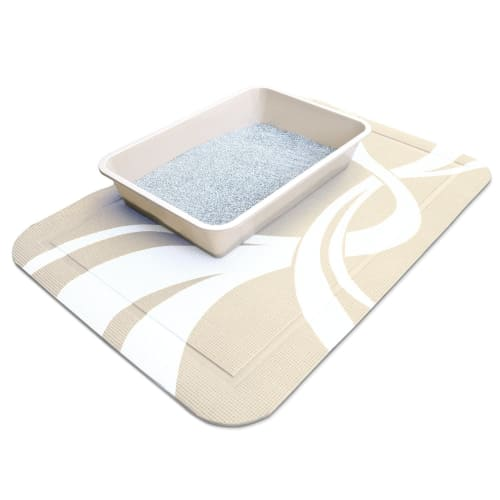 Pet Fusion SmartGrip Cat Litter Mat Beige Twist