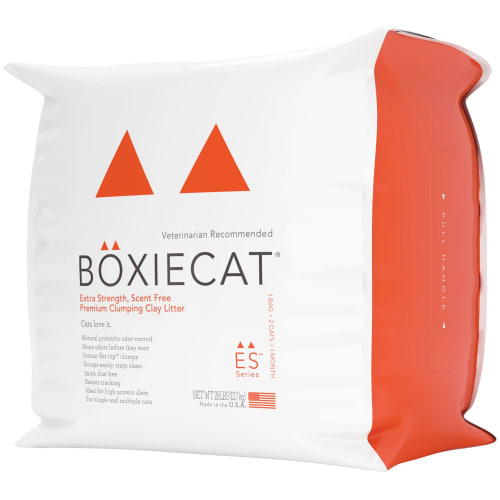 BoxieCat - Extra Strength, Scent Free Premium Clumping Clay Cat Litter, 28lb