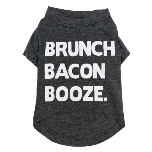 "Fab Dog - ""Brunch Bacon Booze"" Dog T-shirt"