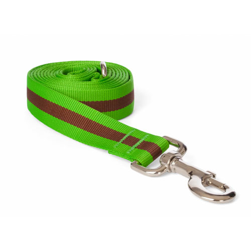 Fab Dog - Classic Stripe Dog Lead Green