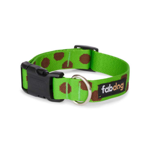 Fab Dog - Polka Dot Dog Collar Green