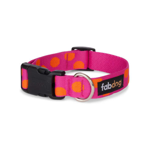 Fab Dog - Polka Dot Dog Collar Pink
