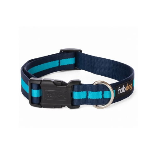 Fab Dog - Classic Stripe Dog Collar Blue