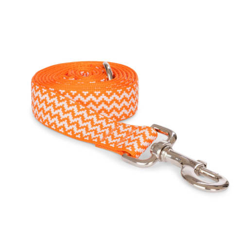 Fab Dog - Chevron Stripe Dog Lead Orange