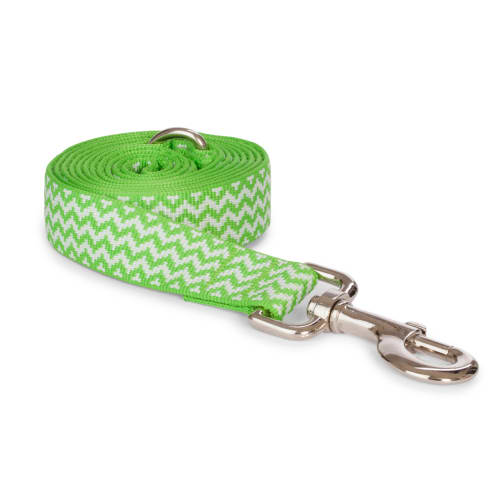 Fab Dog - Chevron Stripe Dog Lead Lime