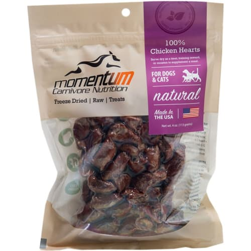Momentum - 100% Chicken Hearts Freeze-Dried Grain-Free Dog & Cat Treats