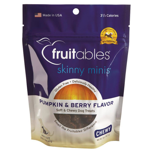 Fruitables - Skinny Minis Pumpkin And Berry Flavor Soft And Chewy Dog Treats, 5oz
