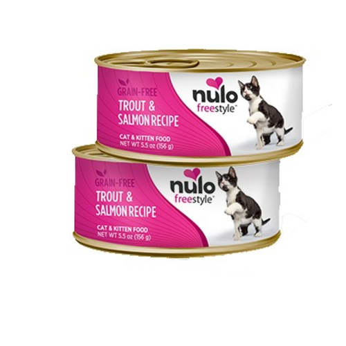 Nulo - FreeStyle Trout & Salmon Pate Grain-Free Canned Cat Food, 5.5oz