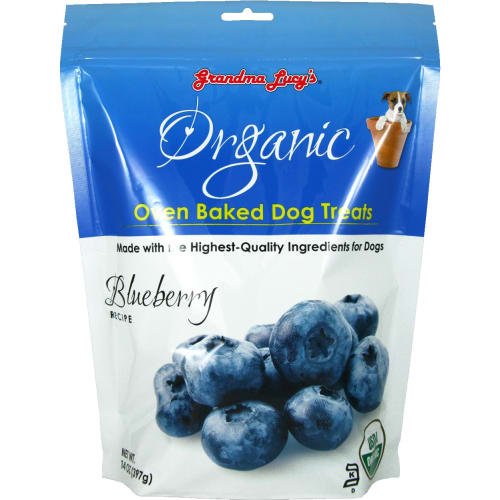 Grandma Lucy's - Organic Oven Baked Blueberry Recipe Dog Treats, 14oz